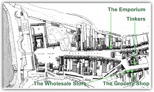Thorpes Shops - Map